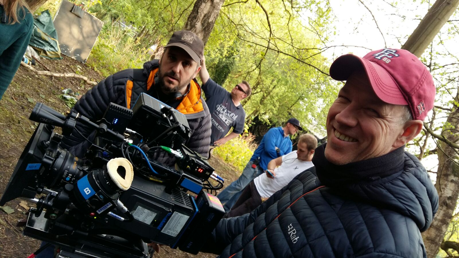 Andrew Johnson DOP with Director Steve Hughes on location shoot for BBC production Creeped Out